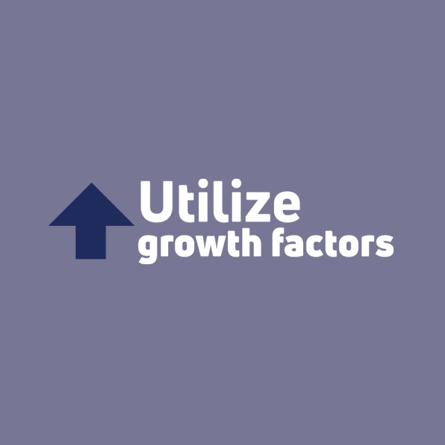 Utilize growth factors